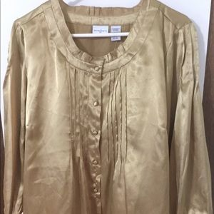 Jaclyn Smith Holiday Blouse, Gold